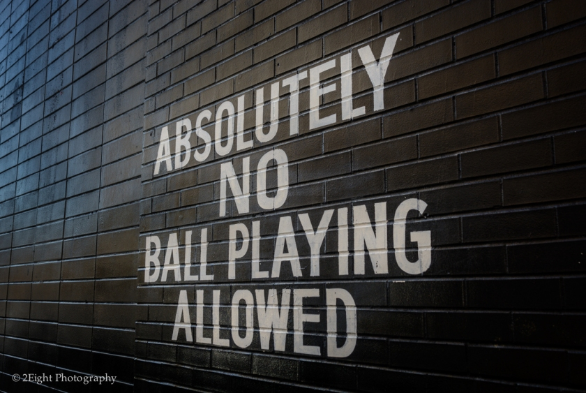 No Playing Ball