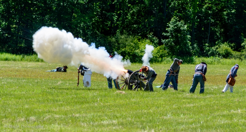 Confederate Cannon Fire